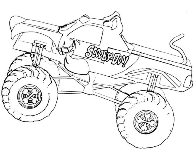 21 Monster Jam Coloring Pages To Print