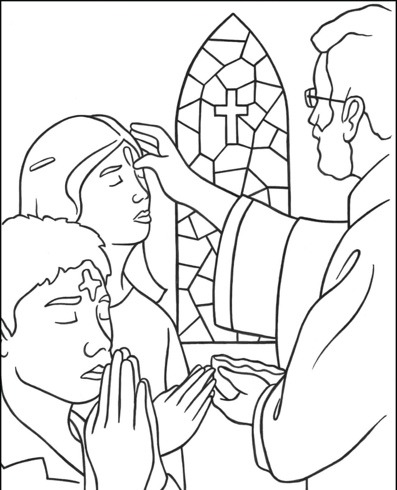 The Top 10 Ideas About Free Catholic Coloring Pages