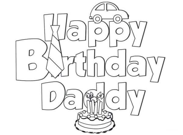coloring pages happy birthday # 26