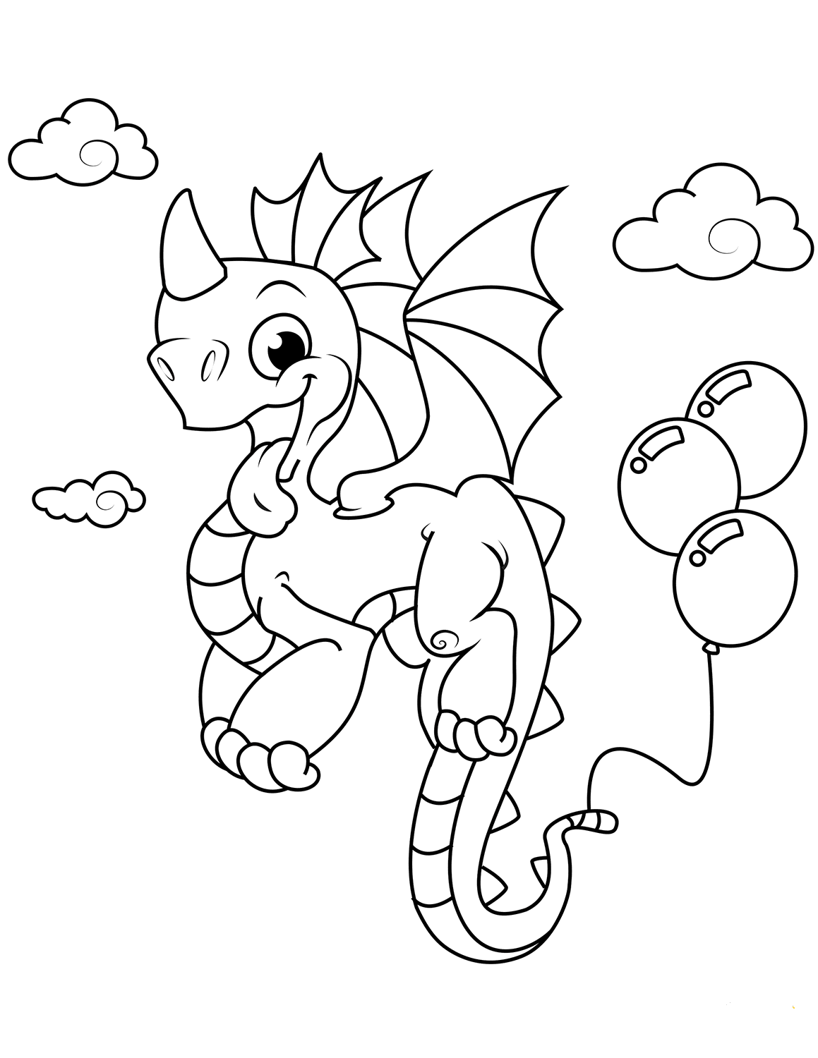 35 Free Printable Dragon Coloring Pages Scribblefun