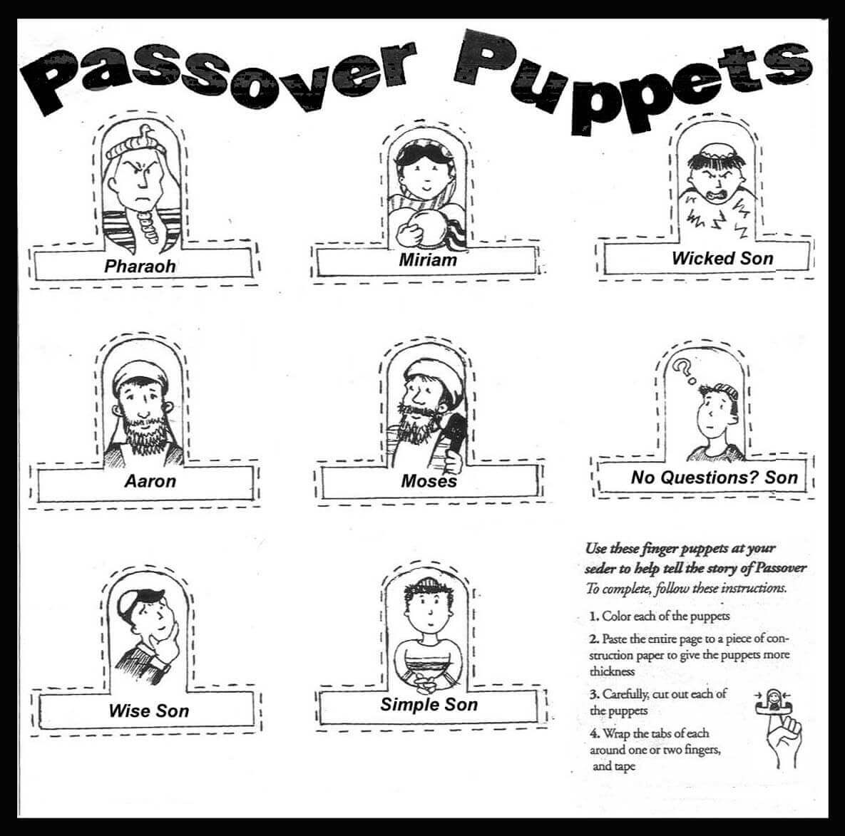 Free Printable Passover Coloring Pages Pesach Coloring