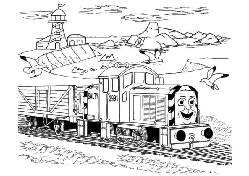 Salty From Thomas The Train Coloring Pages