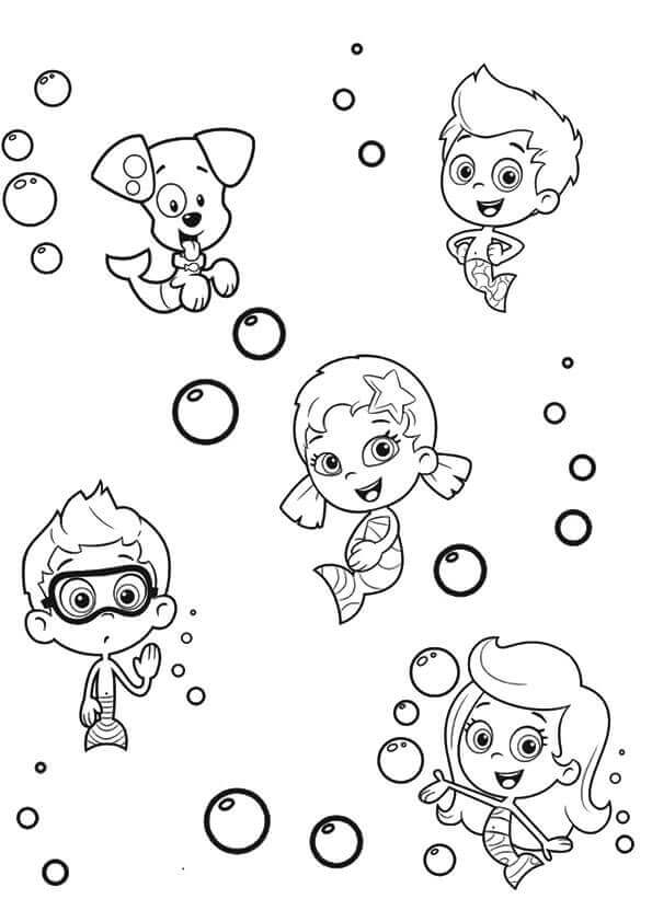 bubble guppies coloring page # 47