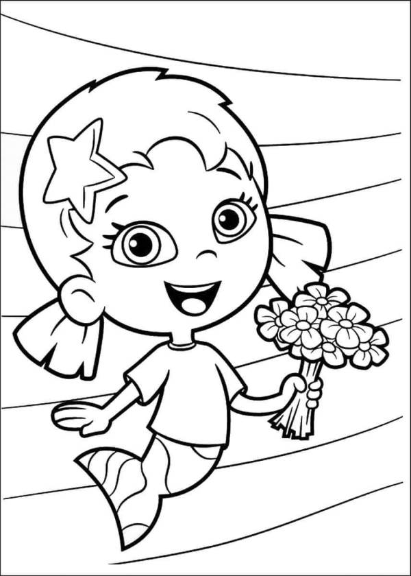 bubble guppies coloring page # 28