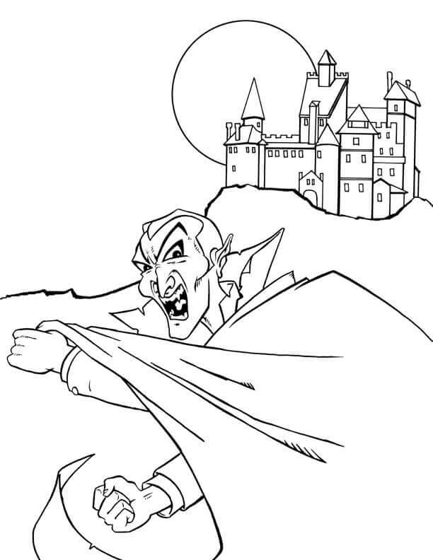free printable vampire coloring pages