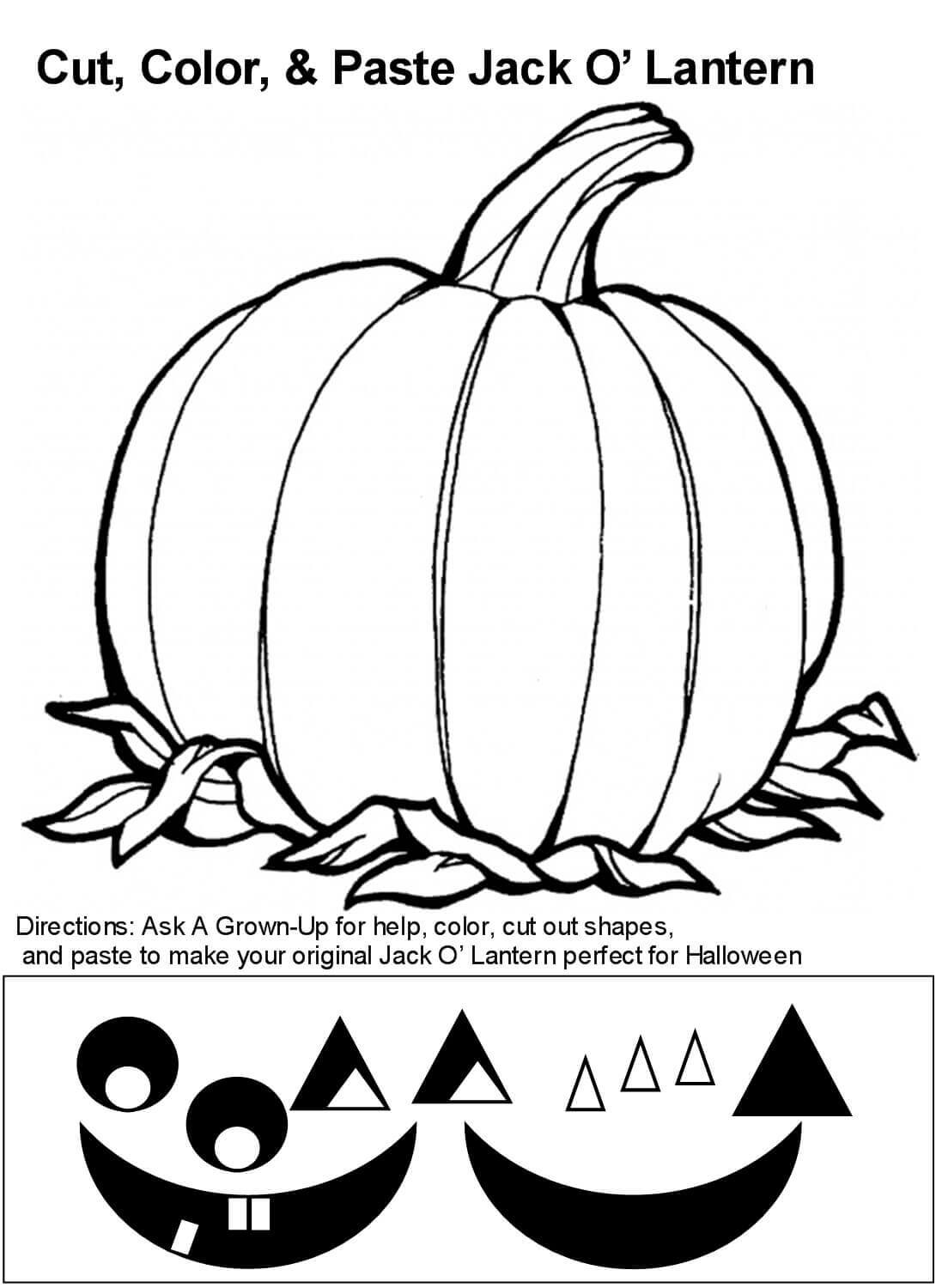 30 Free Printable Jack O Lantern Coloring Pages