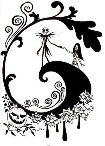 Nightmare Before Christmas Poster Coloring Page