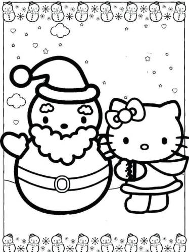 Snowman Coloring Pictures To Print