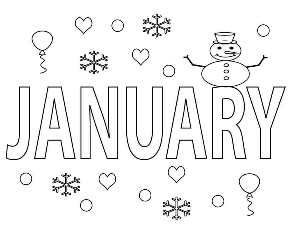 Free January Coloring Pages Printable