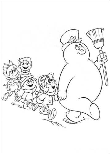 Frosty The Snowman Coloring Pages Printable