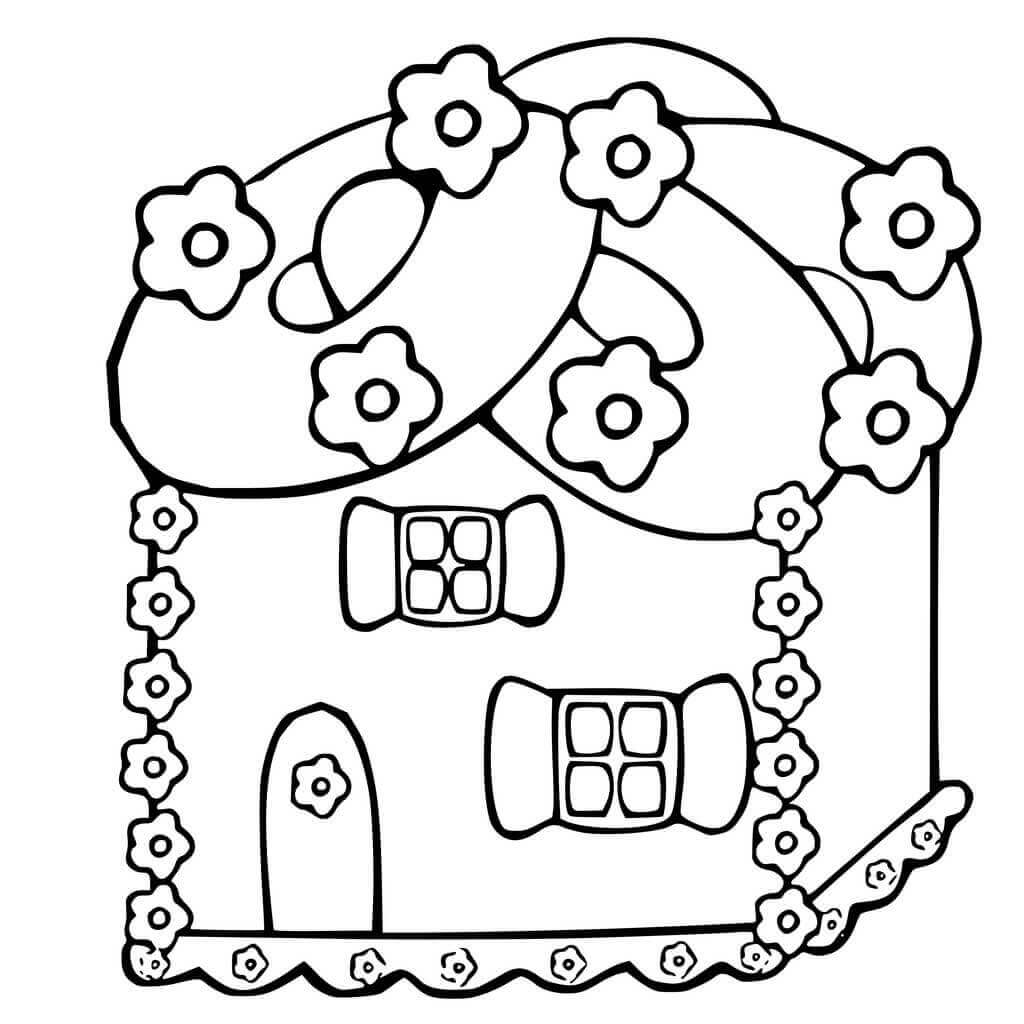 30 Free Gingerbread House Coloring Pages Printable