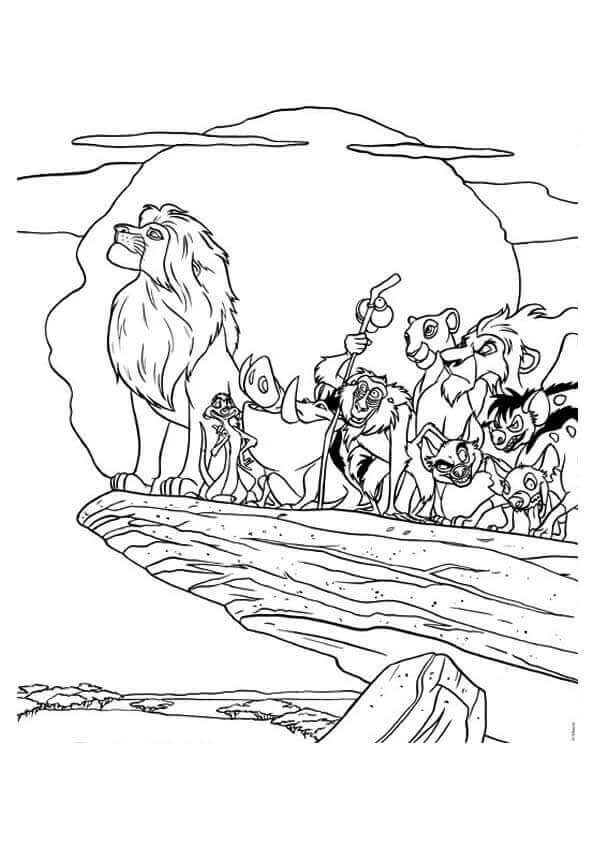 lion king coloring page # 40