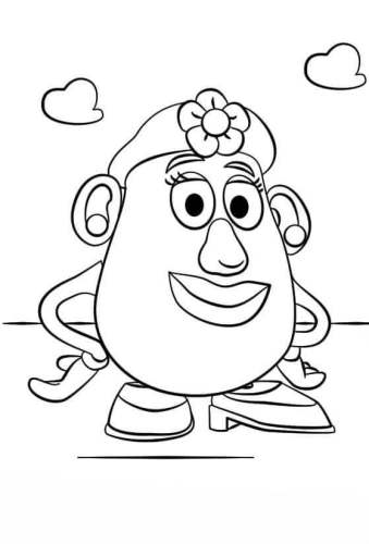 Mrs Potato Head Coloring Page