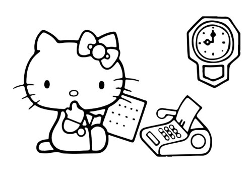 Hello Kitty images to color