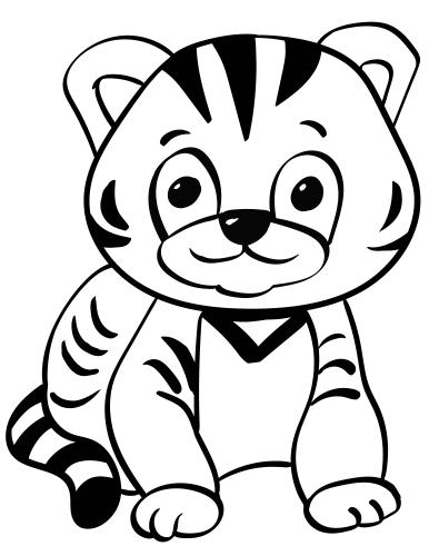 Tiger Cub coloring page