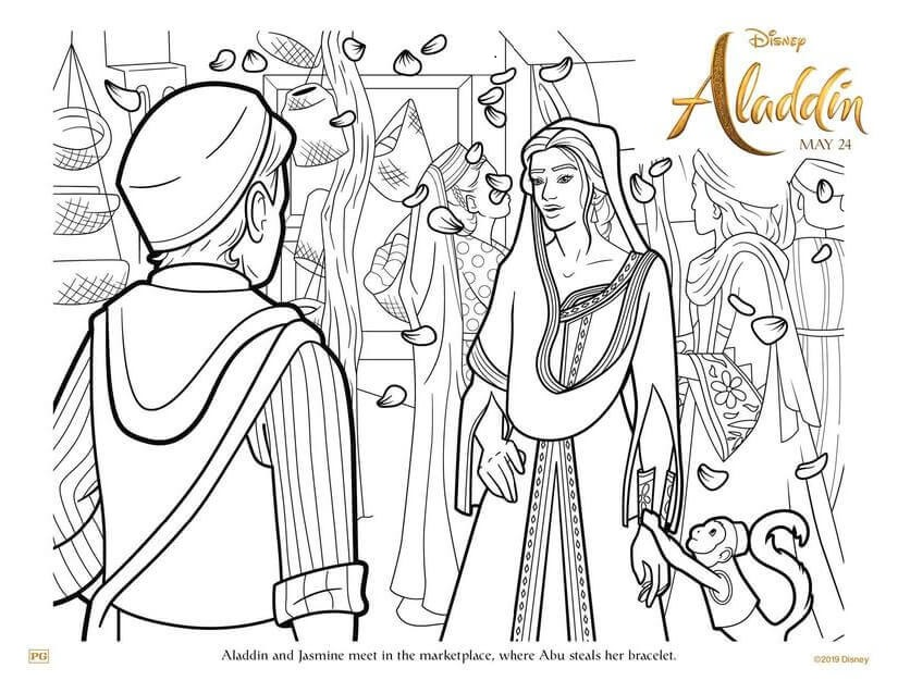Aladdin 2019 Coloring Pages Printable