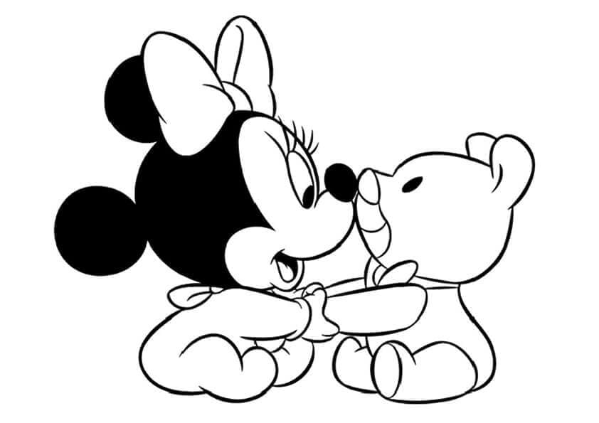 Baby Minnie Mouse Coloring Page