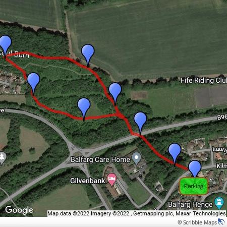 Coul Burn walk detailed map