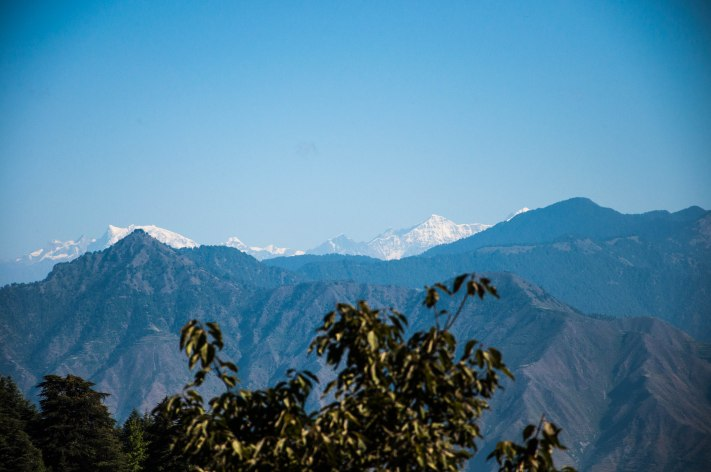 The view of the Himalayas