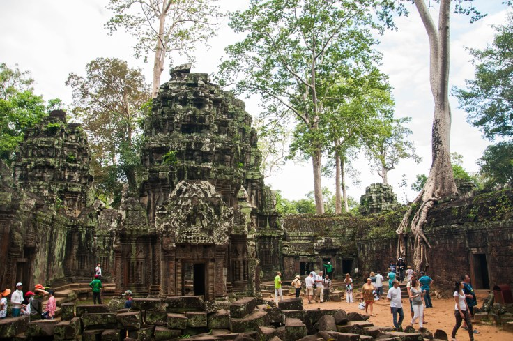 Ta Prohm, complete with a swarm of selfie-taking tourists