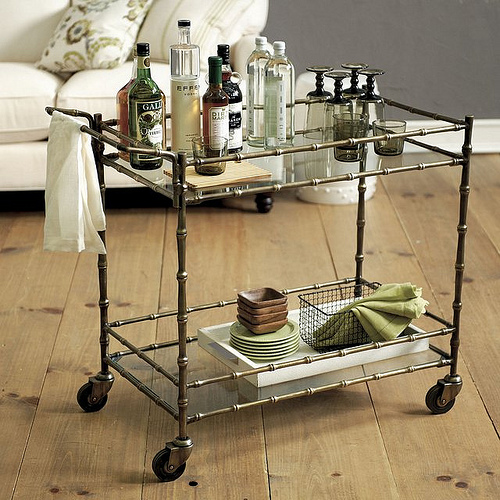 A bar cart. That's what it's all about.