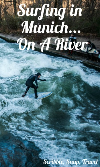 surfing in Munich on a river