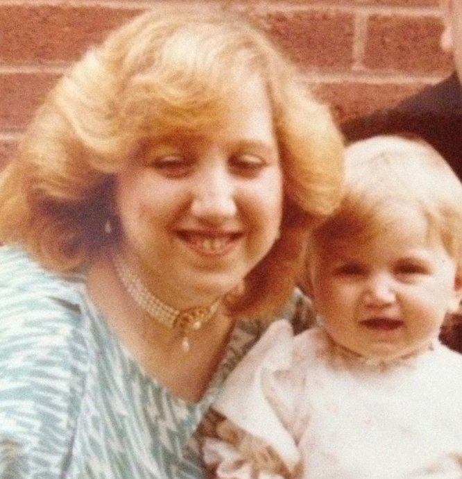 My mum and I, circa a very long time ago
