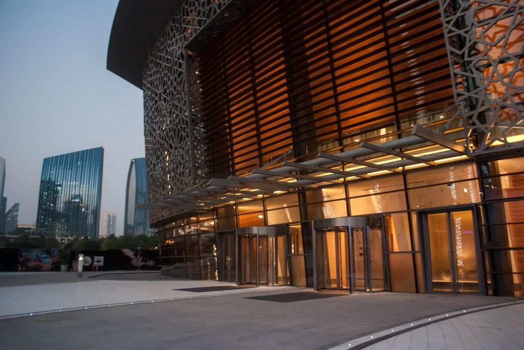 One of the entrances to the Dubai Opera