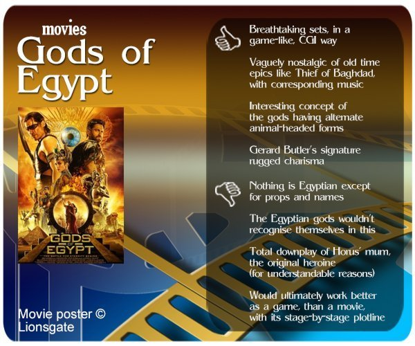 Gods of Egypt Review: 4 thumbs-up and 4 thumbs-down