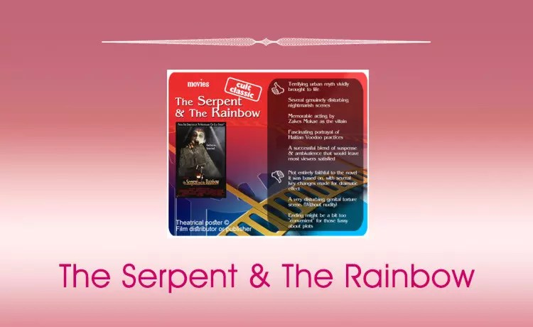 Classic Horror Movie Review: The Serpent and The Rainbow