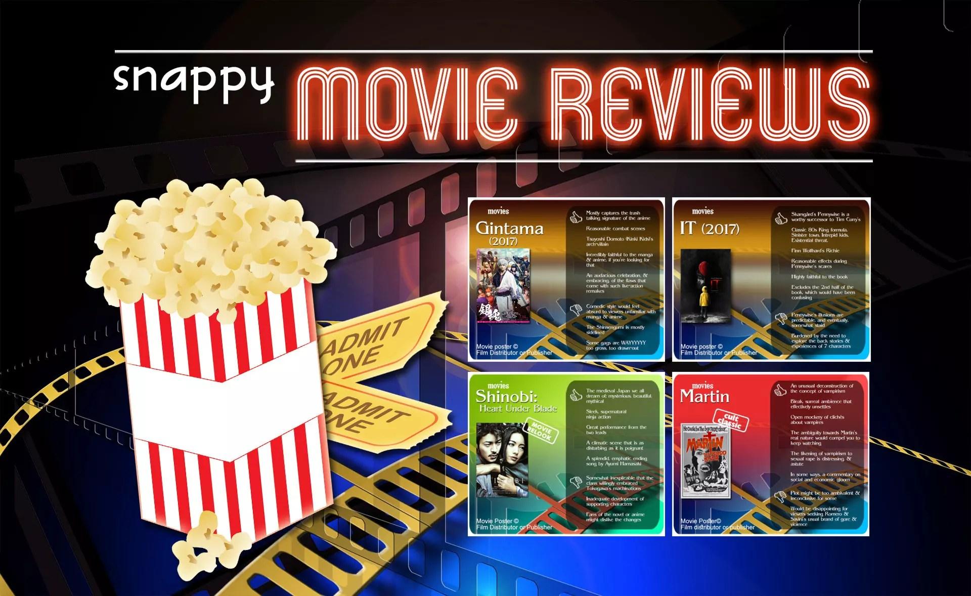 Snappy Movie Reviews