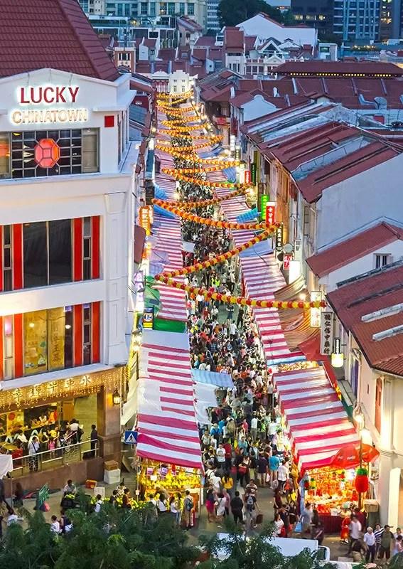 Chinatown Chinese New Year festive market 2017.
