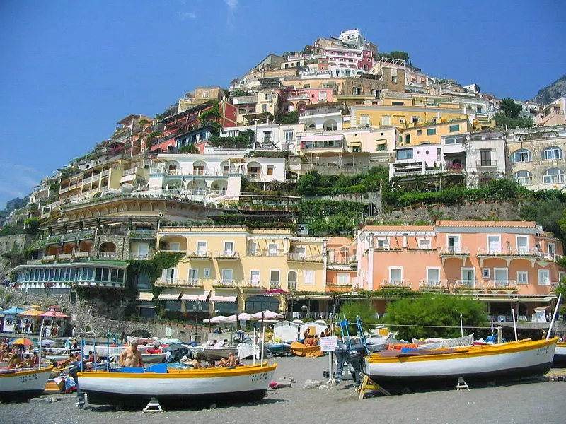Positano Houses and Beach.
