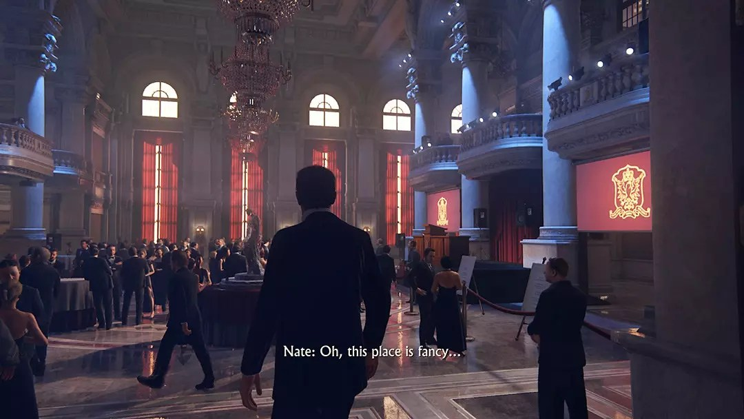 Uncharted 4 screenshot - Rossi Estate Ballroom.