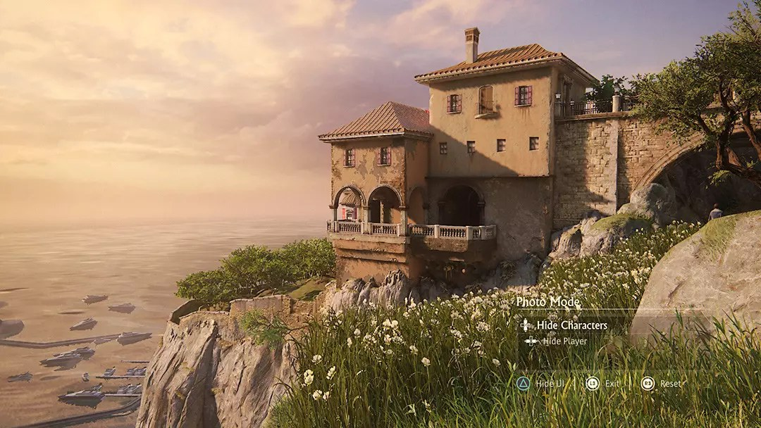 Uncharted 4 screenshot - Rossi Estate Cliffside