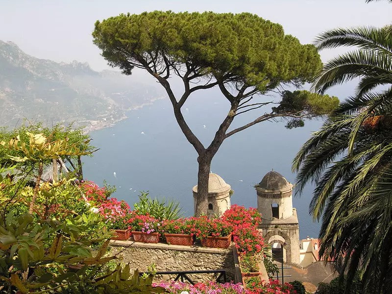 View from Villa Rufolo. A famous estate in the Amalfi Coast.