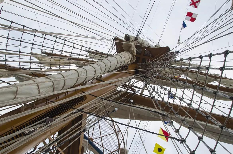 Mast of a barque.