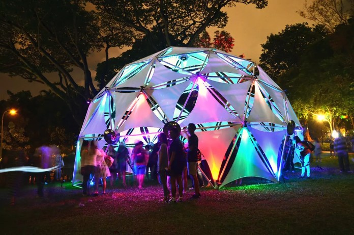 Singapore Night Festival 2017 at Fort Canning Hill.