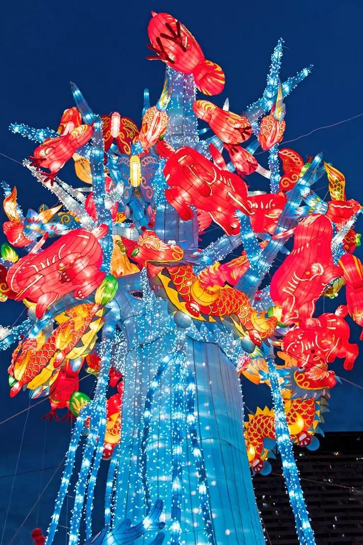 Chinatown Mid-Autumn Festival Decorations 2017.