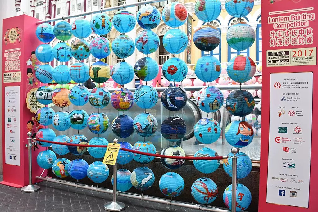Lantern Painting Competition at Chinatown, Singapore.