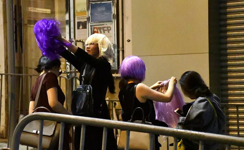 Halloween Street Party and Procession in Central, Hong Kong.