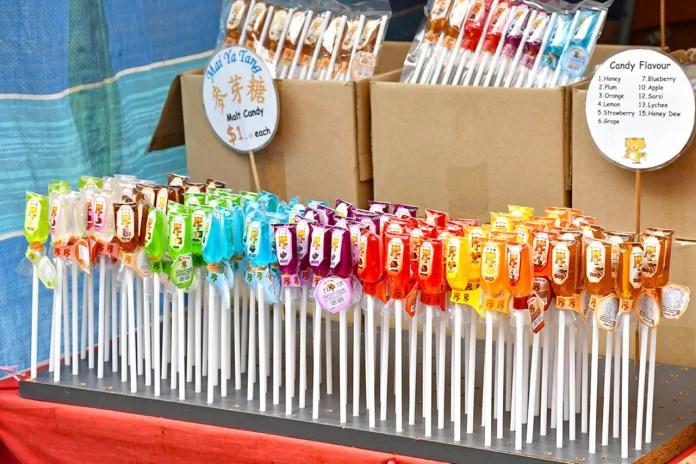 Chinese New Year Malt Candies at Chinatown, Singapore.