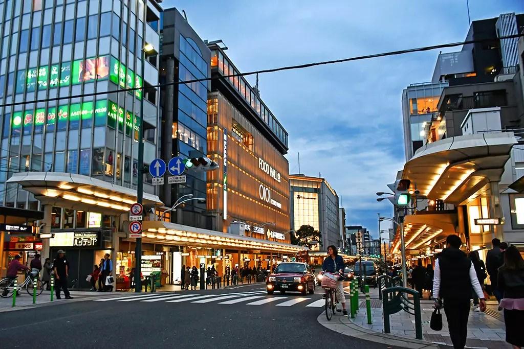 Kyoto Shijo Street Evening.