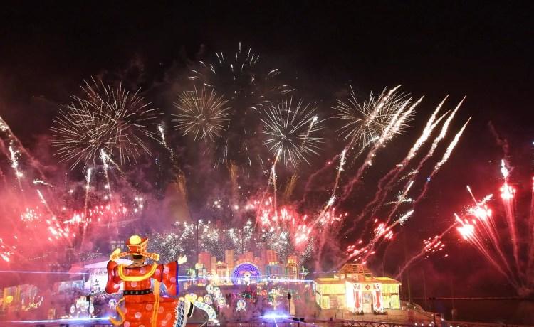 River Hongbao 2018 Fireworks
