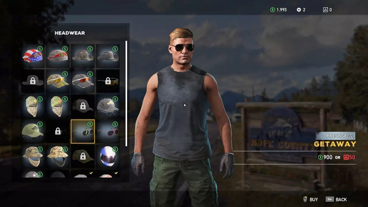 Far Cry 5 Character customization.