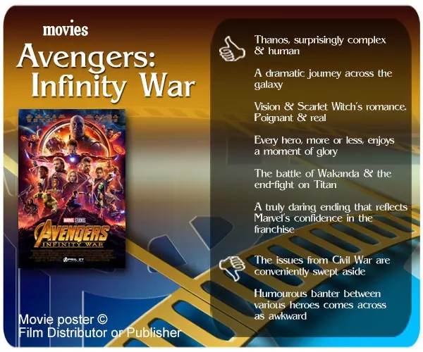 Avengers: Infinity War review - 6 thumbs up and 2 thumbs down.