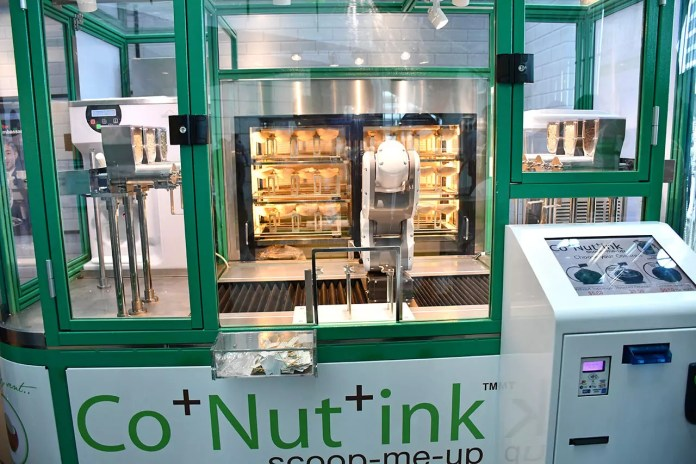 Co+Nut+Ink coconut ice cream kiosk.