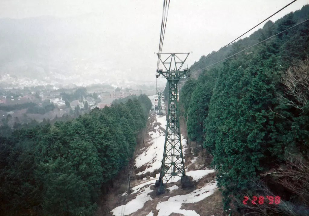 My First Solo Trip To Japan in 1998 - Hakone Ropeway
