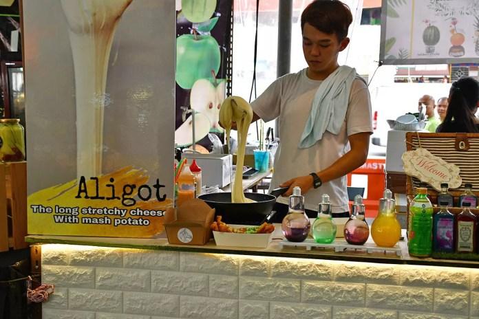 Aligot Making at Geylang Serai Ramadan Bazaar 2018.