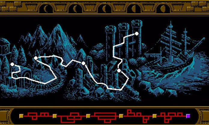 Bloodstained: Curse of the Moon Map